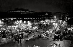 Les Halles, la nuit, photo de Robert Doisneau, Paris, 1967.