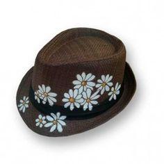Sombrero Margaritas Painted Hats, Hand Painted, Straw Hats, Unique, Clothing, Painting, Women, Fashion, Beachwear Fashion
