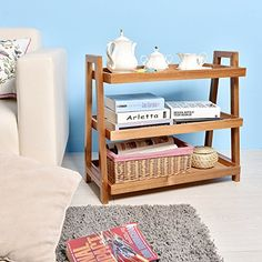 WELLAND End Tables Acacia Wine Rack Wooden Stand Living/Study Room/Bathroom/ Kitchen Storage Shoe Racks ** Click image for more details. (This is an affiliate link) Wood Storage Rack, Storage Shelves, Kitchen Storage, Living Room Table Sets, Living Room Furniture, Wooden Painting, Solid Wood Kitchens, Bathroom Installation, Wood Stool