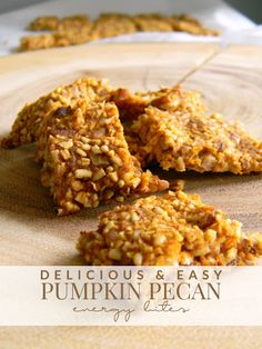 Pumpkin Pecan Energy Bites Recipe on Yummly. @yummly #recipe