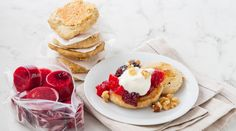 Cardamom And Banana Pancakes With Autumn Fruit Compote - SuperValu Tasty Pancakes, Banana Pancakes, Mini Blender, Fruit Compote, Fall Fruits, Porridge Oats, Cooking Time, Real Food Recipes, Brunch