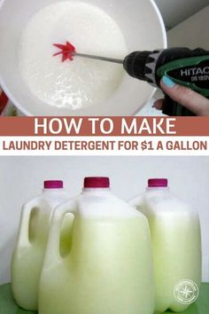 How To Make Laundry Detergent For $1 A Gallon - I made this particular recipe and I have to say my clothes came out soft and smelling absolutely fantastic. I have a brand new LG washing machine and it says only use HE compliant washing detergent and I am happy to say this recipe is working just fine in there. No blocked pipes or attack by bubbles. #diy #allnatural #frugal #laundrysoap #homemadelaundrysoap #diylaundrysoap #homestead #homesteading #savemoney #moneysaving