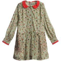 Mini Preen - Green Floral Viscose 'Sylvie' Dress