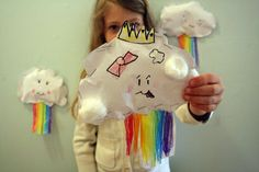 rainbow clouds - fun kid craft project