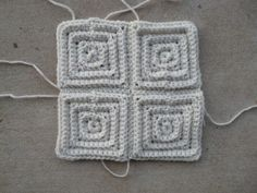 Four of the foundation #crochet #magic #motifs joined into a square.