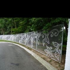 Chain link fence design...if you must, please.