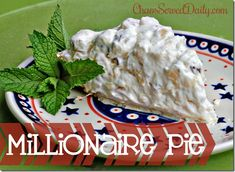 Deliciously Light and creamy Millionaire Pie