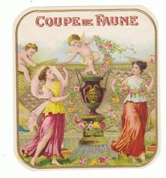 I found this on www.urbitrend-collectables.com #angel coupede faune #cigarlabel