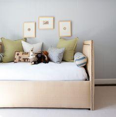 Daybed, soft blue paneling | Ashley Goforth Design
