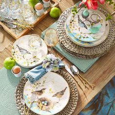 ღღ Nature lovers, take note. Pier 1 has captured the beauty of the great outdoors to enjoy indoors. Crafted of dishwasher-safe earthenware, our Field Notes Dinnerware collection is perfectly suited to enjoy every day. Beautiful Table Settings, Easter Table, Easter Decor, Easter Ideas, Spring Home, Decoration Table, Tablescapes, Dinnerware, Entertaining