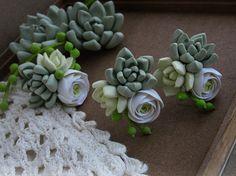 Succulent earrings Succulent ring Succulent от FlowerFromEugene
