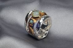 Handmade 925 Sterling Silver #Electroform and 24K Gold by #Israeli Jeweler #IlanaArtisticJewelry,