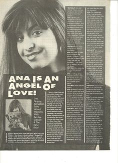 Ana, Full Page Vintage Clipping