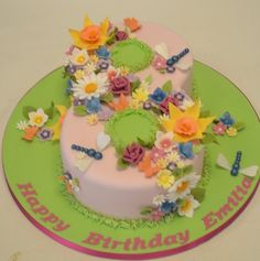 Floral Number 8 Cake | How To Make Number Cakes by DIY Ready at http://diyready.com/number-cakes-diy/