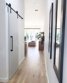 Barn Door Charm Thehomemaven Added A Touch Of Personality To Her Home By Creating A Feature With Corinthian Deco 4s D Barn Door Farmhouse Architecture House