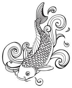 Plantillas para tatuajes del pez koi 05