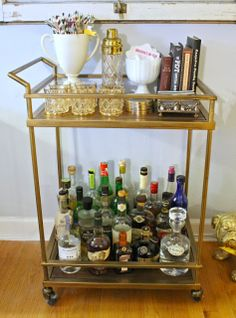 mint love social club: {one bar cart, three ways}