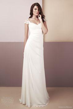 Jennifer Regan Wedding Dresses — 2012 Chic Bridal Collection   Wedding Inspirasi