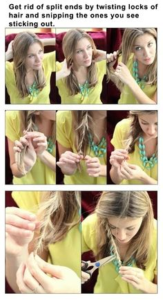 How to get rid of split ends - #Beauty, #Hair