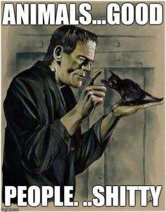 Frankenstein['s monster] by Cat Staggs Beetlejuice, Funny Halloween Jokes, Halloween Halloween, Funny Halloween Pictures, Halloween Queen, Halloween Costumes, The Frankenstein, Funny Quotes, Funny Memes