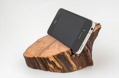 iPhone stand Wooden iPhone holder iPhone dock by GiftsForGadgets