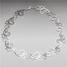 Kelim-Oriental Linked Necklace - Sterling Silver-KL119