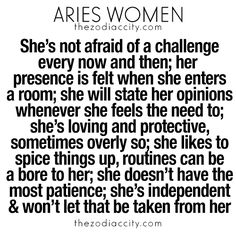 What you need to know about Aries women. For more zodiac fun facts, clickhere.