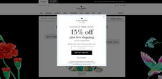Newsletter Subscription, Shop Now, Kate Spade, Thankful, Free