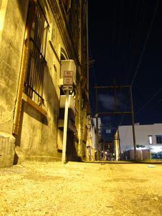 Strand alley in Galveston Texas