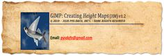 How to create a Height Map (HM) for FSX (FSX:SE) & P3D using GIMP.  Height Maps (HM) can help in creating Normal Maps & Ambient Occlusion (AO) Maps. Normal Map, Ambient Occlusion, Create, Tips, Advice