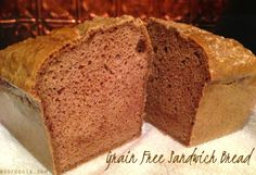 Most Popular Grain Free Bread - Wheat Belly Recipes ♥ Grain Brain Diet Gluten Free Recipes, Low Carb Recipes, Real Food Recipes, Cooking Recipes, Yummy Food, Primal Recipes, Veggie Recipes, Crepes, Wheat Belly Recipes