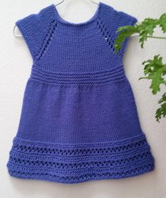 Wee Penny Knitting pattern by Taiga Hilliard Designs Knit Baby Dress, Baby Scarf, Baby Cardigan, Christmas Knitting Patterns, Baby Knitting Patterns, Baby Patterns, Knitting For Kids, Free Knitting, Knitting Yarn