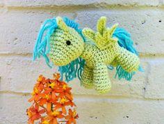 Little Crochet Amigurumi Pegasus Pony by IndigoHeartBox on Etsy