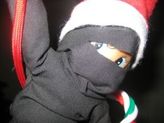 Ninja Elf ... this would be a BIG crowd pleaser!  #elfontheshelf
