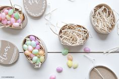 Make Easter boxes or candy nests from Coco and Mingo #diy #easter