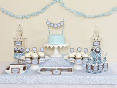 Baby Baby Shower, Blue and Brown Party Theme