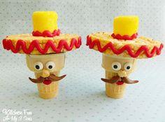 Cinco de Mayo Cupcake Cones