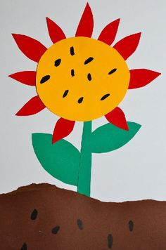 Art project for Eric Carle's The Very Tiny Seed