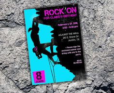 Printable customized Rock Climbing invitation by CraftBoxStudio