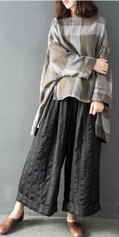 Abaya Style 744149538408752951 - Spring Loose Linen Wide-Leg Pants Women Casual Trousers Source by Spring Outfits Women, Casual Dresses For Women, Dress Casual, Casual Pants, Pants For Women, Jackets For Women, Trousers Women, Wide Leg Linen Pants, Pantalon Large