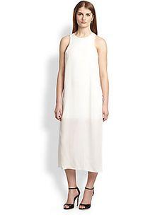 ADDISON Sheer-Bottom Dress