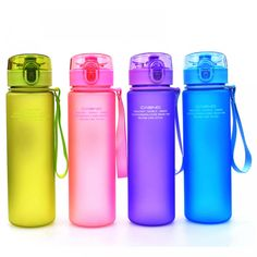 Leak Proof Water Bottle for Sport  Price: $ 9.95 & FREE Shipping  #fitnessgoal #fitnessaddicted #fitnessmeme #fitnessforlife #fitnessquote #fitnesswoman Cute Water Bottles, Drink Bottles, Friendly Plastic, Thermal Insulation, Natural Disasters, Hiking, My Favorite Things, Beautiful, Free Shipping