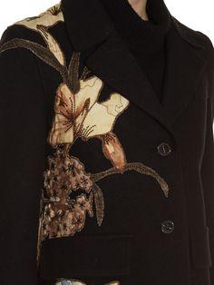Kimono 1997-appliqué raw-edge coat | Valentino | MATCHESFASHION.COM