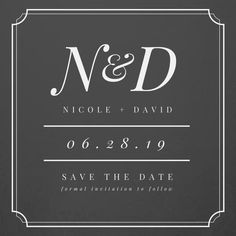 Simple Black & White Monogram Save the Date Announcement Save The Date Invitations, Announcement, Dating, Monogram, Black And White, Handmade Gifts, Simple, Etsy, Kid Craft Gifts