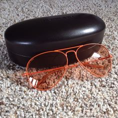 """HP!NWT MK orange aviators HP 6/10/15 Work Week Chic Party!100% authentic Michael Kors """"Rachel"""" aviator sunglasses. Style: M2061S-810-58. Orange metal frame and orange lenses. Adjustable rubber nose pads. 100% UV protection. Measurements: 58mm lens; 14mm bridge; 135mm bar (5"""" wide temple to temple with 2"""" lens length.) Comes with MK protective case and cleaning cloth. Pic #4 from manufacturer. Perfect condition! NWT! HL:55 Michael Kors Accessories"""