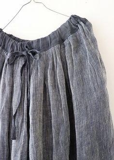 라르니에 정원 LARNIE Vintage&Zakka Linen Skirt, Cotton Linen, Boho Shorts, Off Shoulder Blouse, How To Make, How To Wear, Style Inspiration, Skirts, Clothes