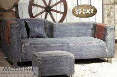 Modern Denim Sofa