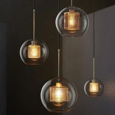 Cheap Pendant Lights, Buy Directly from China Suppliers:Loft Retro Hollow Metal Lustre Led Pendant Lights Clear Glass Globe Hanging Lamp Dining Room Droplight Indoor Lighting Lamparas Clear Glass Pendant Light, Cheap Pendant Lights, Modern Pendant Light, Modern Chandelier, Pendant Lighting, Pendant Chandelier, Shop Lighting, Lighting Ideas, Loft Industrial