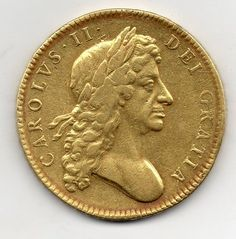 1680 FIVE GUINEA, CHARLES II SECOND BUST Queen Mary Ii, Tudor Dynasty, All Currency, Gold And Silver Coins, Coin Worth, Metal Detecting, World Coins, Rare Coins, Coin Collecting