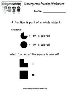 math worksheet : kindergarten fraction worksheet activities printable  stuff for  : Online Fraction Worksheets